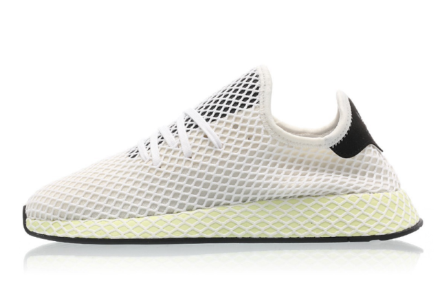 adidas Originals Deerupt Runner Chalk White Core Black Men Running Shoes CQ2629
