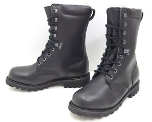 French-Army-Black-Leather-Boots-Waterproof-Para-Paratorooper-Combat-Boot-NEW