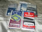 MANCHESTER UNITED AWAY PROGRAMMES 1960 - 65 INC FAC LEAGUE FRIENDLYS EURO