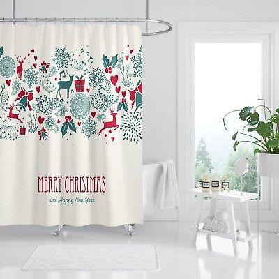 2019 Latest Design 3d Christmas Deer 79 Shower Curtain Waterproof Fiber Bathroom Windows Toilet Curtains, Drapes & Valances Shower Curtains