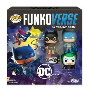 Pop-funkoverse-Juego-de-estrategia-Dc-Comic-Kids-Play-Party-Home-Figuras-Conjunto-de-Regalo