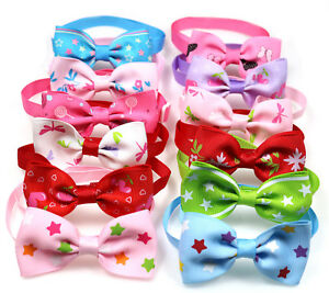 Pet-Puppy-Dog-Cat-Bow-Ties-Adjustable-Bowties-Mix-Styles-Ribbon-Dog-Ties