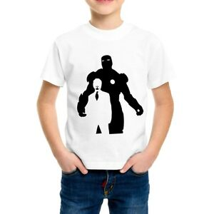 T-SHIRT-IRON-MAN-MARVEL-MAGLIETTA-HAPPINESS-AVENGERS-PERSONALIZZATA-MOVIE-BIMBO