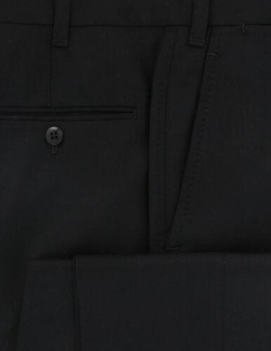567 $600 Fiori Di Lusso Black Solid Wool Pants Full