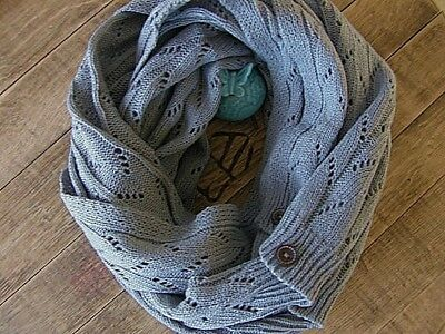 CYBER SALE Infinity scarf Scarf,Gift Knit scarf GRAY Winter Scarf