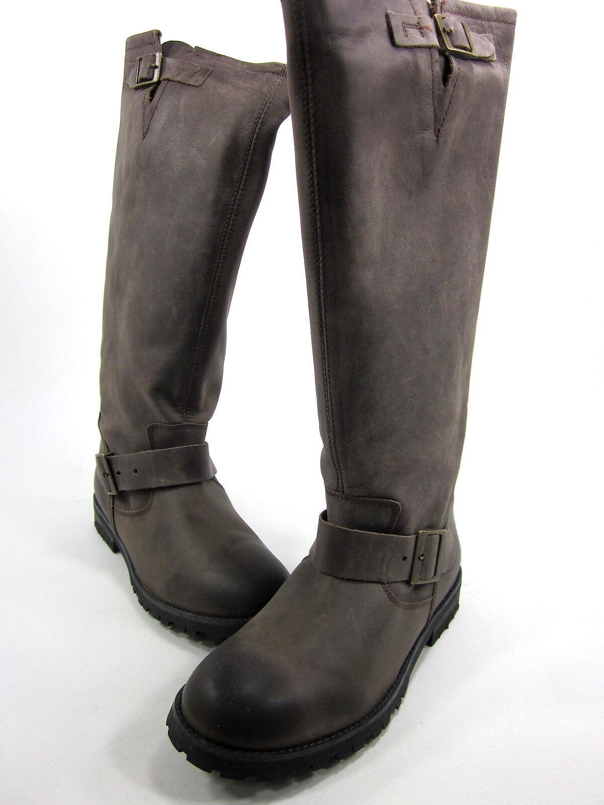 schuhe DIEM, 102 KNEE-HIGH Stiefel, WASHED TAN, damen, US 10M, EURO 40, NEW W O BOX