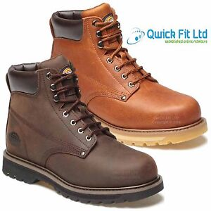 b4c66e96932 Details about NEW MENS DICKIES WELTON LEATHER NON SAFETY ANKLE HIKING WORK  BOOTS SHOES SIZES