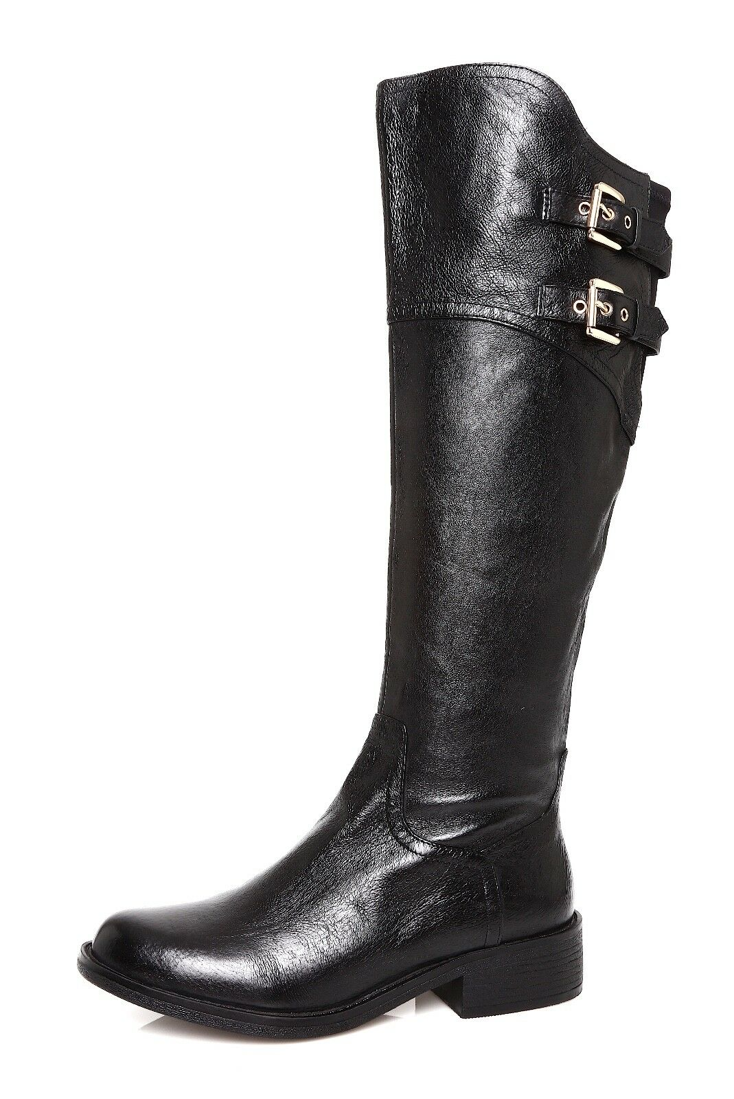 Steve Madden Ogreen Women's Leather Black Boot Sz 6.5 M 4438