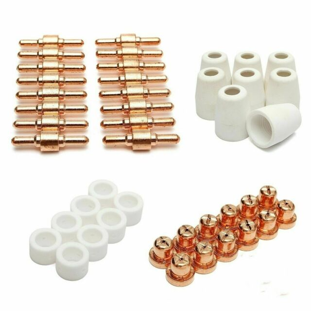 50Pcs Air Plasma Cutter Consumables Fit For PT-31 LG-40 Torch CUT-40//50 Tip Cup