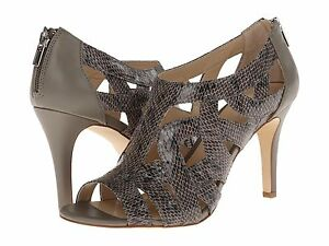 CALVIN-KLEIN-KIANI-LUX-SNAKE-OLIVE-LEATHER-CLASSIC-WOMEN-SANDALS-SHOES-AS218