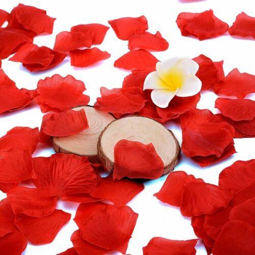 Wholesale 1000Pcs Artificial Fake Silk Rose Petals Leaves Wedding Party Decor US