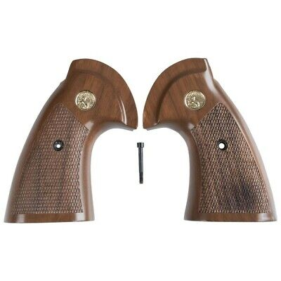 ALL CHECKERED OPENED BACK AWESOME HANDLE GRIPS FOR COLT PYTHON I, E FRAME