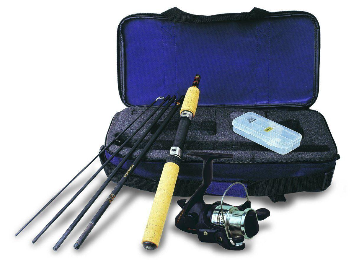 Okuma Voyager Spinning Rod Fishing Travel Kit Compact Case  Fish Ocean Lake Boat  for wholesale