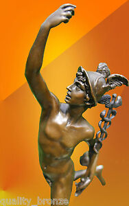 BRONZE STATUE MERCURY HERMES ART FIGURE FIGURINE GREEK MYTHOLOGY HOT CAST - <span itemprop=availableAtOrFrom>Mansfield, Nottinghamshire, United Kingdom</span> - I will arrange for courier to collect any returns - Mansfield, Nottinghamshire, United Kingdom