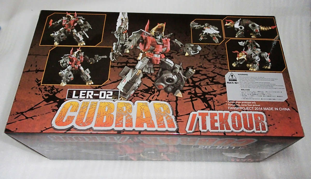 Transformers Fansproject Lost Exo-Realm  LER-02 Cubrar & Tekour Ex displayed