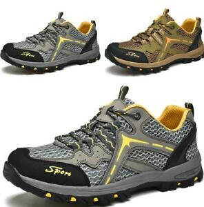 New-Mens-Hiking-Outdoors-Shoes-Mesh-Breathable-Flats-Sport-Splice-Slip-on-Casual