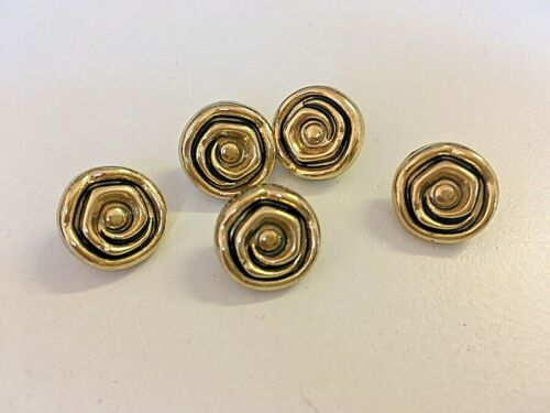 Or Rose à Motifs tige boutons 15 mm x 4 boutons