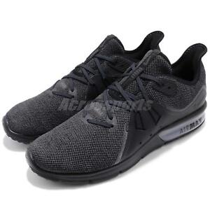 watch c3452 74730 Image is loading Nike-Air-Max-Sequent-3-III-Black-Anthracite-
