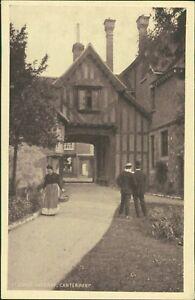 St-John-039-s-Gateway-Canterbury-Lady-Gentleman-by-W-George-Vintage-PC-RJ-1154