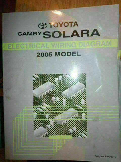 2005 Toyota Camry Solara Electrical Wiring Diagram Service