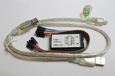 USB Logic Analyzer 8ch. 24MHz.