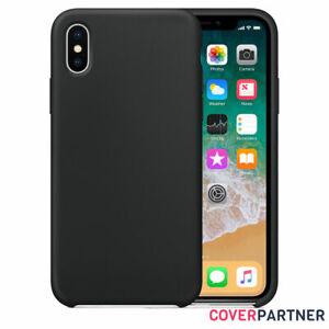 Huelle-fuer-Original-iPhone-XR-XS-Max-Silicone-Case-Schutzhuelle-Cover-Schwarz