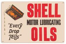 SHELL OIL BLACK CAN Schild 61 cm! Gasoline USA MOTOR Service Werkstatt sign