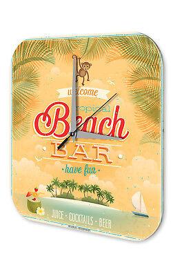 Home & Garden Clocks Supply Reloj De Pared Bar Party Decoración Bar En La Playa Acrylglas