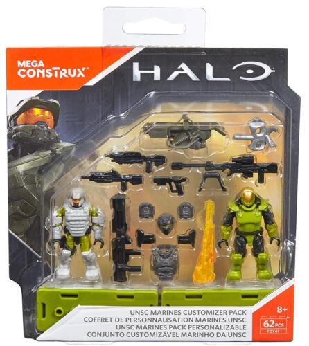 Mega CONSTRUX Halo UNSC Marines CUSTOMIZER specilist armes Pack FDY41