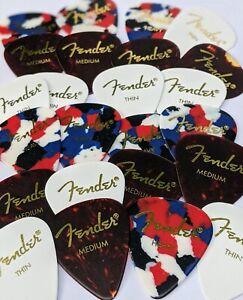 Fender-Guitar-Picks-24-Variety-Pack-Shell-Confetti-White-Thin-Med-amp-Heavy