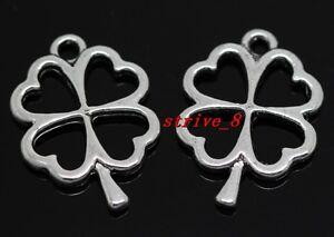 40/240pcs Tibetan Silver Jewelry Finding leaves charms pendant DIY 25x17mm