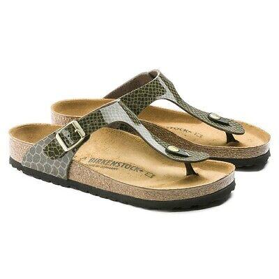 Birkenstock Gizeh 1011774 BF magic Snake khaki grün Zehentrenner Sandale 36 42 | eBay