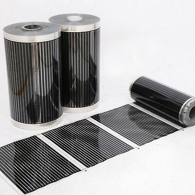 50cm x 2m Home Floor Infrared Underfloor Heating Film AC220V Warming Film Mat