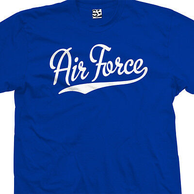 Air Force Script & Tail T-Shirt - USA US Military Academy - All Sizes & Colors