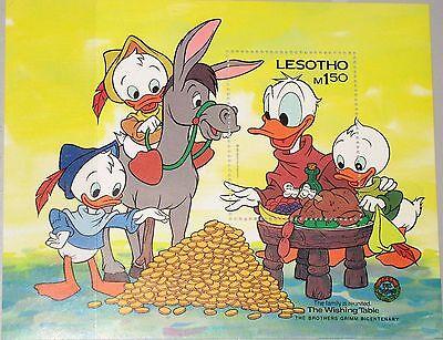 AnpassungsfäHig Lesotho 1985 Block 29 S/s 511 200th Birth Ann Jacob Grimm Disney Cartoons Mnh
