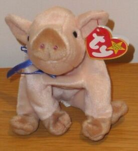 Original-TY-Beanie-Babies-Pig-Knuckles-Year-1999-With-Tags-Soft-Toy