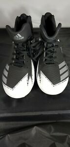 ADIDAS-Mens-Football-Soccer-Cleats-Black-amp-White-Size-US8-CLU-600001