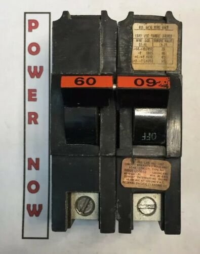 Federal Pacific FPE Stab Lok 2 Pole Double 40 Amp 240V Breaker **FREE SHIPPING**