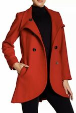 New With Tag $260 CeCe by Cynthia Steffe AVA Black Wool Blend Coat Size 12