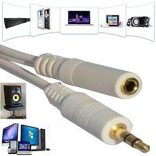 Misuratore di 5m metri stereo oro Jack 3.5mm Prolunga Cavo Auricolare PC UK Venditore