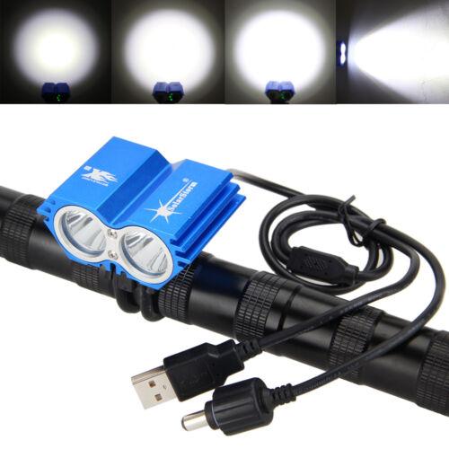 6000LM Bike Front Light Cycling Headlamp XM-L T6 LED Headlight Waterproof Torch