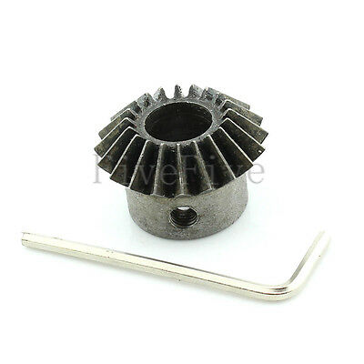 8/10/12mm Bore 20T 1.5M Metal Umbrella Tooth 90° Pairing Bevel Gear 20 Teeth