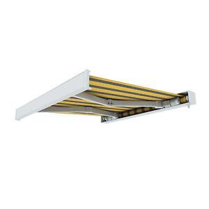 Markise-Kassettenmarkise-elektrisch-Sonnenschutz-4-50-x-3-m-gelb-grau-B-Ware