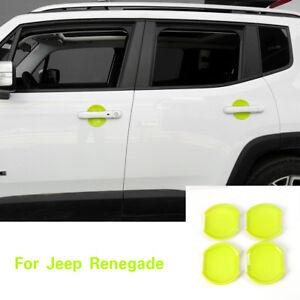 8*Orange ABS Car Inner Door Handle Bowl Cover Trim For Jeep Renegade 2015-2018