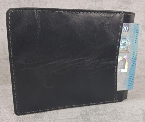 Porte-Monnaie en Cuir Portefeuille pour Hommes Véritable Porte-Clés