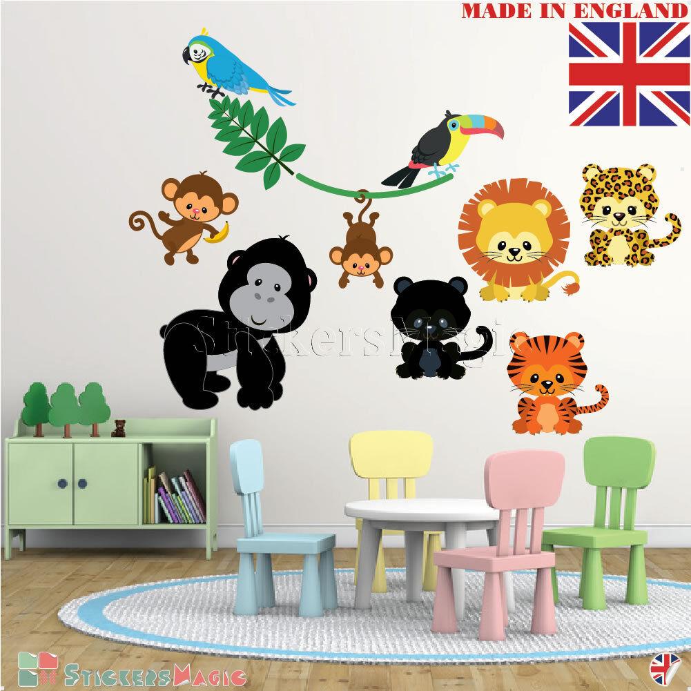 Adesivi Murali Animali Per Bambini.Bambini Animali Adesivi Murali Per Bambini Vivaio Camera Safari
