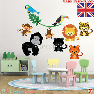 Kids-Animal-Wall-Stickers-Childrens-Nursery-Room-Safari-Zoo-Jungle-Decal-Decor