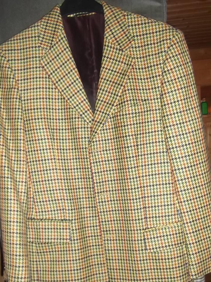 Herren Harrisbury Wormland Sakko Gr. M 46 Schurwolle mehrfarbig