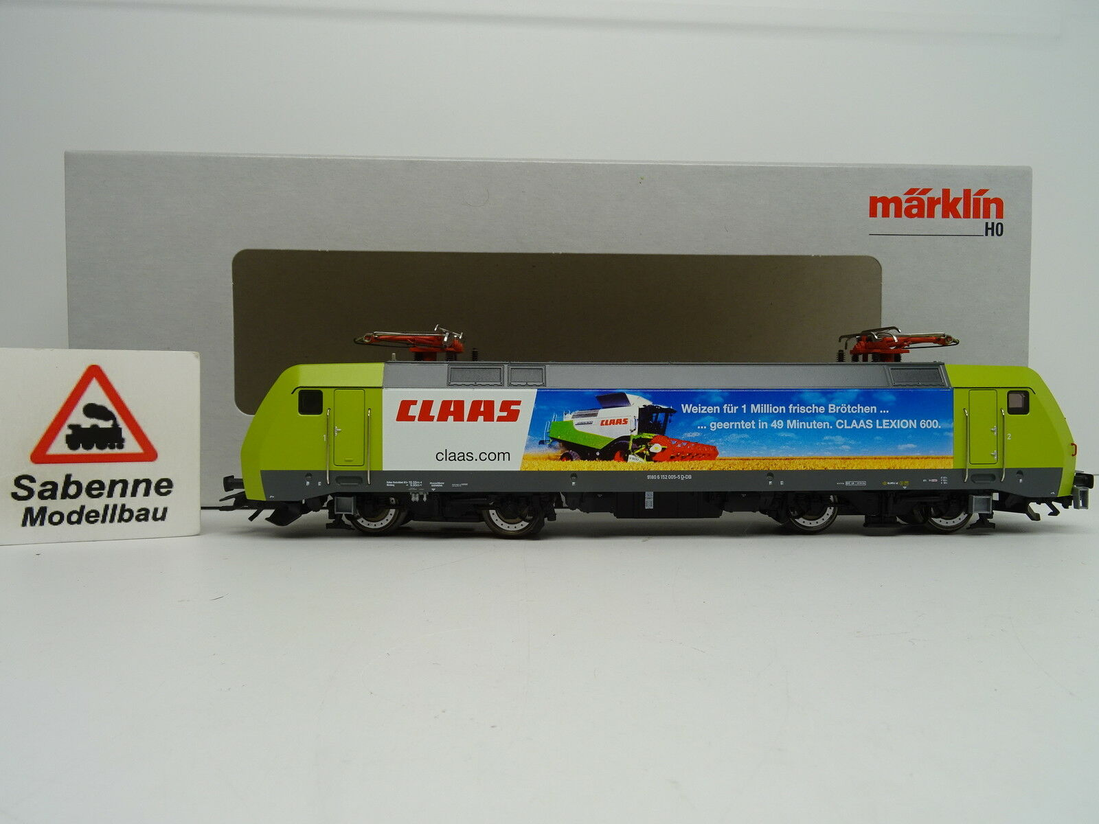 39342 E-Lok BR 152 Claas DB AG/Rail mfx Digital SOUND Top/Scatola Originale c228