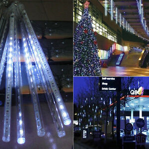 image is loading 30 50cm 240led lights meteor shower rain 8tube - Snowfall Christmas Lights